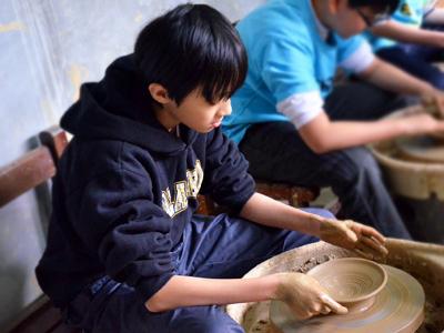 鶯歌陶藝專業玩陶教室‧藍染牛角DIY